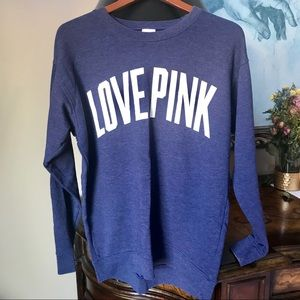 Victoria Secret Pink | Blue Love Pink Grew Neck